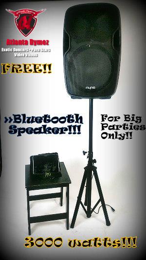 FREE 3000 watts  Bluetooth Speaker & Playlist