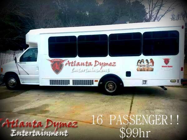 #1 Atlanta Dymez Party bus (15-16 Passenger) $499 4 hours